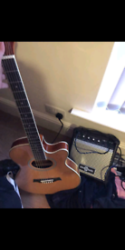 Guitar and amp and extras