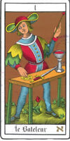 Tarot card reading for a coffee