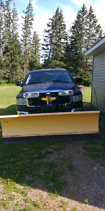 Plow truck with fisher plow