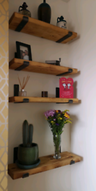 Rustic / industrial look shelves and brackets