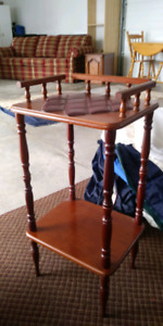 A very old wood end table with pattern!!