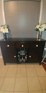 Sideboard, Wine and glass rack with Storage