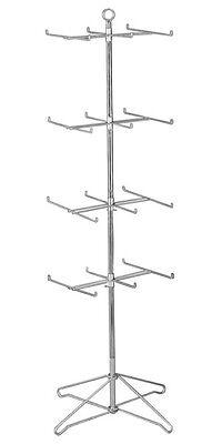For Sale Floor Spinner Display Rack - 4 Tier 24 Peg Chrome Finish