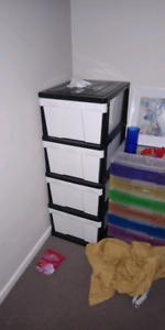 Large plastic storage stack need gone