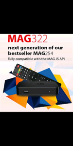 Mag322 wifi IPTV BOX +1 YEAR PREMIUM IPTV SERVICE Contact Govind