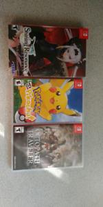 Jeux de switch et PS4