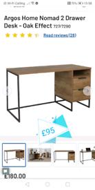 Nomad 2 Drawer Storage Desk only £95. Real Bargains Clearance Outlet L