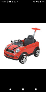 Mini Cooper child ride on with push handle for adult