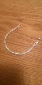 Silver colour and Diamonte Bracelet