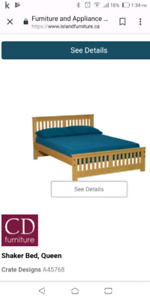 Queen size shaker bed frame