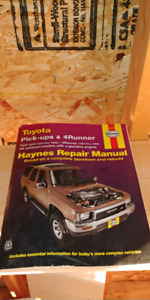Haynes manual Toyota pickup and 4runner