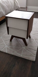 Brydon Wood Storage 2 Drawer Nightstand