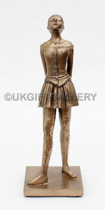 Degas-Style-Ballerina-Sculpture-LITTLE-DANCER-Figurine-Resin-Bronze-Statue-NEW