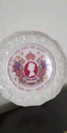Silver Jubilee Bone China Plate 1952 to 1977