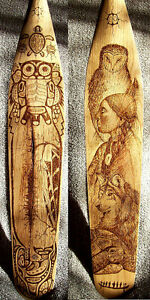 ORIGINAL AND UNIQUE WOODBURNED PADDLES-COMMISSIONS, GIFTS, ETC. Peterborough Peterborough Area image 2