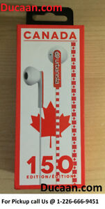 NEW Urbanista Canada 150 Limited Edition Earbuds - Red and White