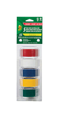 Duck 34 In. W X 12 Ft. L Vinyl Electrical Tape Multicolored