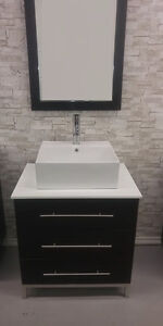 Modern Bathroom Vanity - INCLUDES EVERYTHING - clearance price