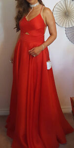 MILLY organza red ball gown for sale