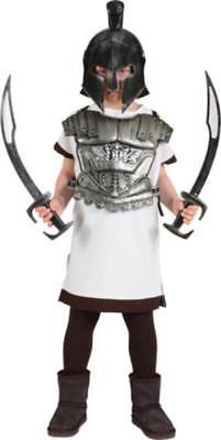 Kinder Gladiator Römer Schwert Gladiatoren Kostüm Spartakus Rüstung Tunika Helm