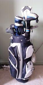 full set of clubs plus bag