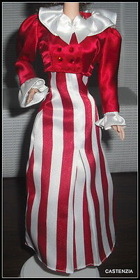 DRESS  BARBIE DOLL AFTER THE WALK COCA COLA 2 PIECE WHITE & RED TOP & DRESS GOWN