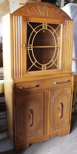 Antique/Early Vintage Solid Oak China Cabinet - Great Condition