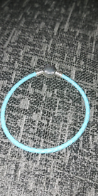 Turquoise Seashell Leather Bracelet