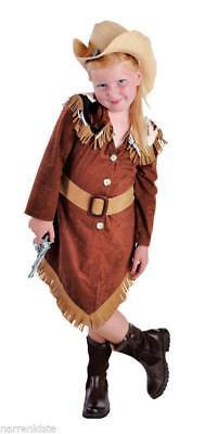 Cow Girl Kostüm Kleid Wilder Westen Saloon Kinder Cowgirlkostüm Mädchen ()