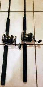 2 Shimano Triton Down Rigger Rods with Penn 310GTi Reels