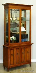 Antique Curio Display Hall Cabinet by Hespeler