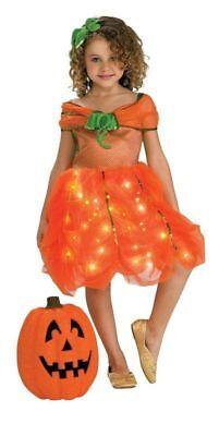 Pumpkin princess fancy dress kids girls Halloween twinkle light up party costume (Halloween Costumes Pumpkin Princess)