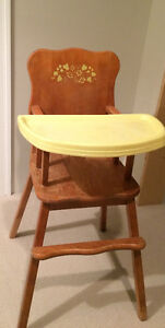 Solid maple highchair