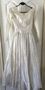 Vintage Wedding Gown, Ivory, size small