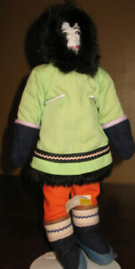 "15"" Inuit Heritage Male Doll  Tightly Stuffed    Coppermine, NWT"