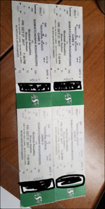4 Sask Roughriders Tickets vs. Montreal Alouettes Oct 27