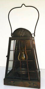 Vintage Lantern with mini oil lamp