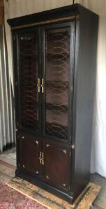 ** A unique antique display/entertainment unit, newly refinished