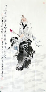 Free shipping Chinese ink painting :Lao Zi(Chinese philosopher)