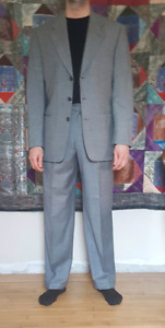 Man's grey wool single breasted suit