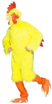 Huhn Kostüm 8 Stück Gelb Kunstpelz & Latex Nutztier Charakter Kostüm OS (Kunst Stück Kostüm)