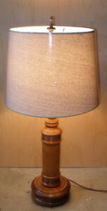 Vintage Maple Lamp With Copper Detailing