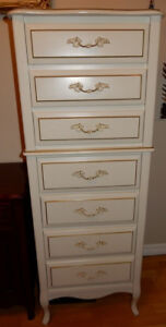 White Baronet French Provincial Chest