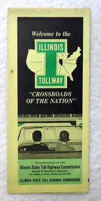 1965 Illinois Tollway Map  Nn8