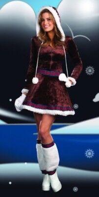 NEW! ALASKAN BEAUTY S Sexy Women's Dreamgirl Alexa ESKIMO KISSES Costume A0665 - Eskimo Womens Costume