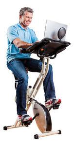 Brand new FitDesk Exercise Bike with Massage Bar, White