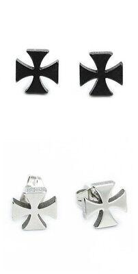 Iron Cross Earrings - Super Cool Stainless Steel Iron Cross Earrings