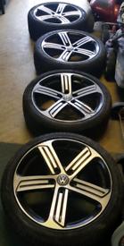 "Genuine vw golf R alloys/tyres 18"""