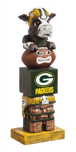 Green Bay Packers Tiki Tiki Totem Statue NFL   Free Shipping Go Pack Go