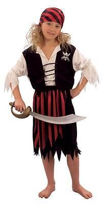 Piraten Mädchen Klein, Kinder Kostüm Kostüm, Kinder Buch - Piraten Mädchen Kleinkind Kostüm